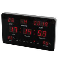 Perel Horloge murale à LED 37,8x25,8 cm Noir