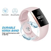 Bracelet en silicone Fitbit Charge 3 - rose clair - S