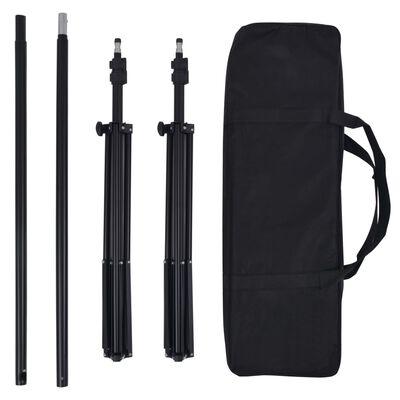 vidaXL Kit de studio photo avec toiles de fond, lampes et parapluies