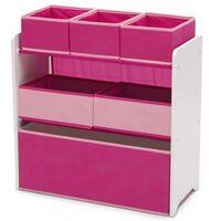 Delta Children Organisateur de jouets à 6 bacs Design and Store Rose