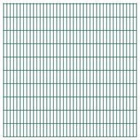 vidaXL Panneau de clôture de jardin 2D 2,008x2,03 m Vert