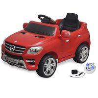 vidaXL Voiture électrique pour enfants Mercedes Benz ML350 Rouge 6 V