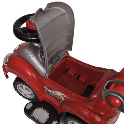 vidaXL Voiture enfant à chevaucher avec manche de poussée Rouge