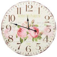 vidaXL Horloge murale vintage Fleur 60 cm