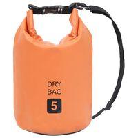 vidaXL Sac sec Orange 5 L PVC