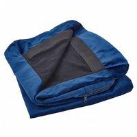 Housse en velours bleu marine pour canapé 3 places BERNES
