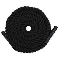vidaXL Corde de traction 12 m Polyester Noir