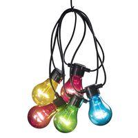 KONSTSMIDE Guirlande lumineuse avec 10 ampoules Multicolore