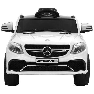 vidaXL Voiture pour enfants Mercedes Benz GLE63S Plastique Blanc