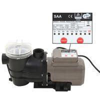 vidaXL Pompe de piscine avec minuterie Noir 0,25 CH 8000 l / h