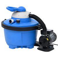 vidaXL Pompe de filtration à sable Bleu et noir 385x620x432mm 200W 25L
