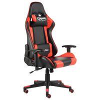 vidaXL Chaise de jeu pivotante Rouge PVC
