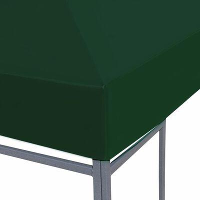 vidaXL Toile supérieure de belvédère 310 g / m² 3 x 3 m Vert