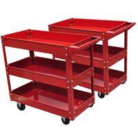Chariot servante d'atelier 100 kg rouge