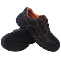 vidaXL Chaussures de sécurité Noir Pointure 44 Cuir