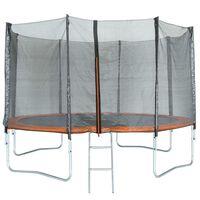 TRIGANO Trampoline avec filet de sécurité 427 cm