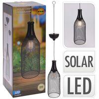 ProGarden Lampe suspendue solaire à LED Métal 11 cm