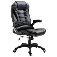 vidaXL Chaise de bureau Noir Similicuir