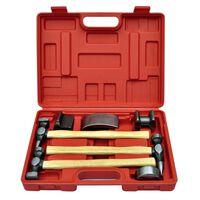 vidaXL Kit de marteaux de carrosserie de voiture et de bosses 7 pcs