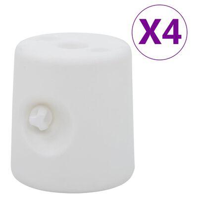 vidaXL Poids de tonnelle 4 pcs PE Blanc