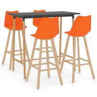 vidaXL Ensemble de bar 5 pcs Orange