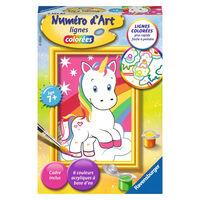 Ravensburger Numéro d'art - mini - Adorable licorne