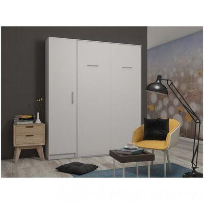 Composition armoire lit escamotable SMART-V2 blanc mat Couchage 140 x