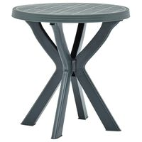 vidaXL Table de bistro Vert Ø70 cm Plastique