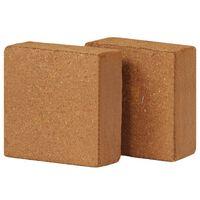 vidaXL Bloc de coco 2 pcs 5 kg 30 x 30 x 10 cm