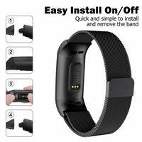 Bracelet Fitbit Charge 3/4 Milanese - noir - L