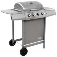 vidaXL Barbecue gril à gaz avec 4 brûleurs Argenté