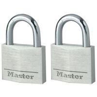 Master Lock Cadenas 2 pcs Aluminium 40 mm 9140EURT