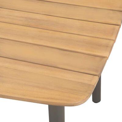 vidaXL Table de jardin 80 x 80 x 72 cm Bois d'acacia solide et acier