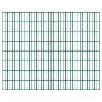 vidaXL Panneaux de clôture de jardin 2D 2,008x1,63 m 22 m total Vert