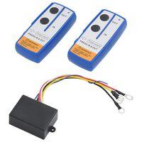 vidaXL 2 pcs Télécommandes sans fil pour treuil avec récepteur