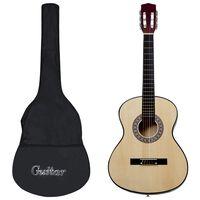 """vidaXL Jeu de guitare classique de débutant 12 pcs 4/4 39"""""""