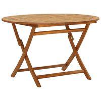 vidaXL Table pliable de jardin 120 cm Bois d'acacia massif