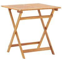 vidaXL Table pliable de jardin 70x70x75 cm Bois d'acacia massif