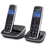 Fysic Téléphone DECT FX-6020 double Noir et argenté