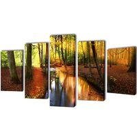 Set de toiles murales imprimées Forêt 200 x 100 cm