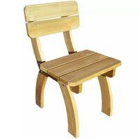 vidaXL Chaise de jardin Bois de pin imprégné