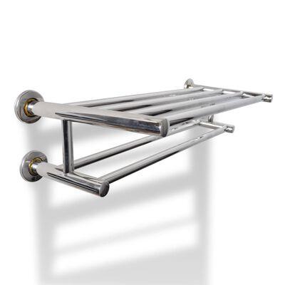 Porte serviettes double - Barre Fixe 6 tubes