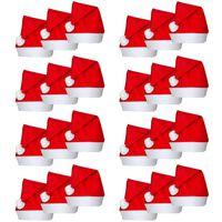 vidaXL Bonnets de Père Noël 24 pcs