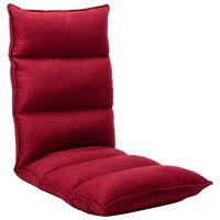 vidaXL Chaise pliable de sol Rouge bordeaux Tissu