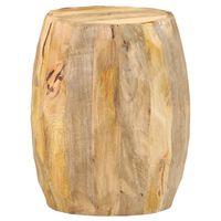 vidaXL Tabouret tambour Bois de manguier solide