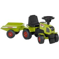 FALK Tracteur à chevaucher avec remorque Claas Axos 310 Vert