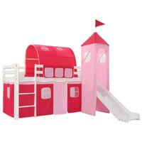 vidaXL Lit mezzanine d'enfants avec toboggan et échelle Pin 208x230 cm