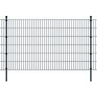 vidaXL Panneaux et poteaux de clôture 2D pour jardin 2008x1230 mm 16 m