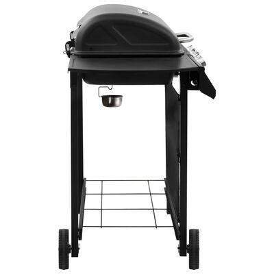 vidaXL Barbecue gril à gaz avec 6 brûleurs Noir