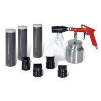 vidaXL Kit de sableuse à air 3 bouteilles de sable et 4 buses incluses